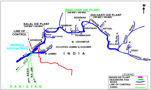 Baglihar Hydroelectric Plant - Issue between Pakistan and